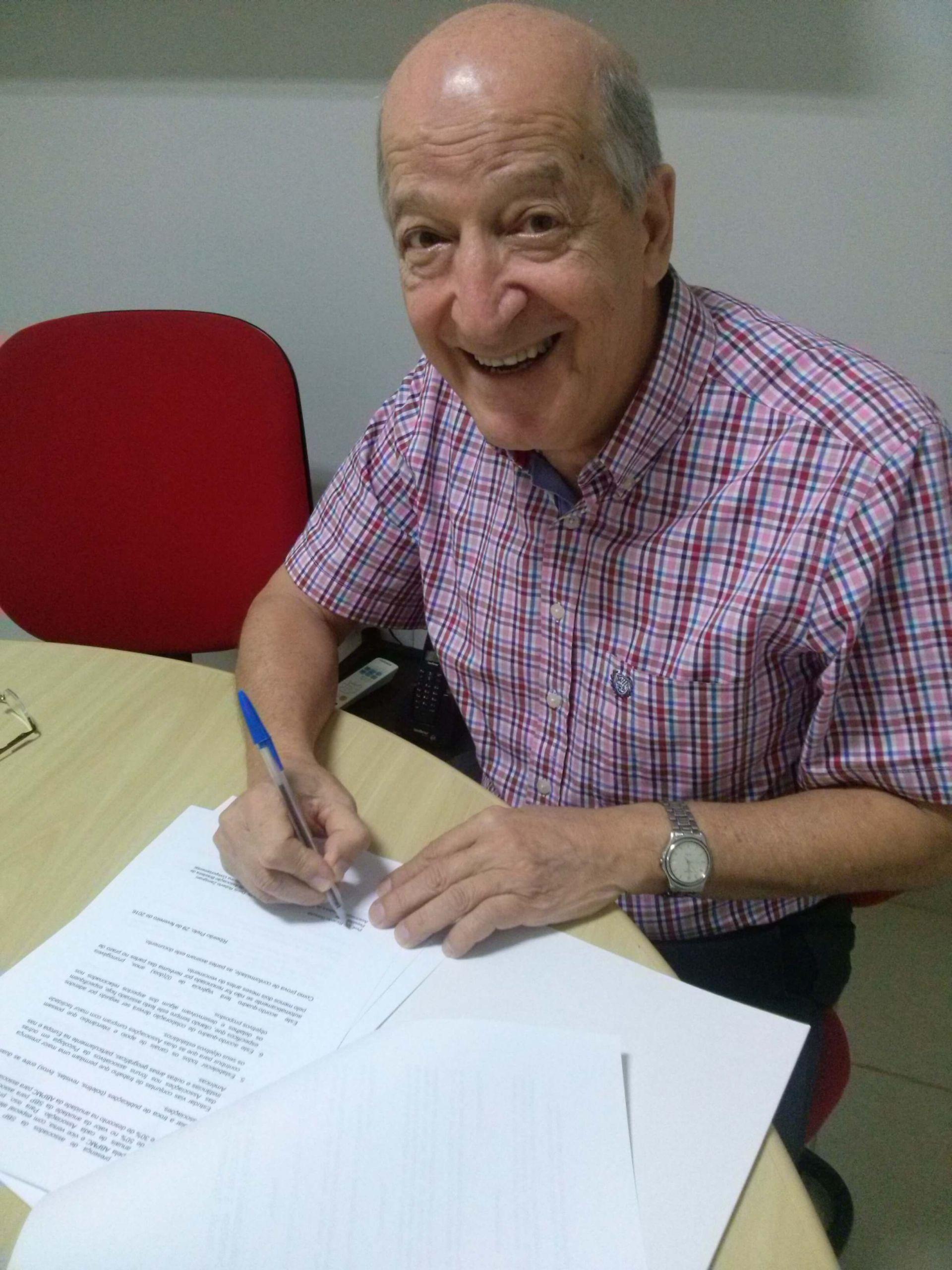 foto assinatura Termo